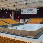 Vorbereitungen Stadthalle, Special Olympics World Winter Games 2017