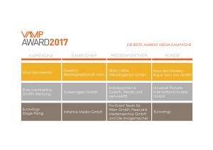 VAMP Award 2017 - Die beste Ambient Media Kampagne