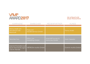 VAMP Award 2017 - Die attraktivste Sales-Promotion