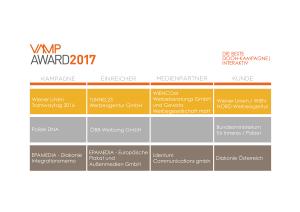VAMP Award 2017 - Die beste DOOH-Kampagne Interaktiv
