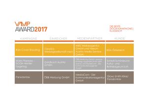 VAMP Award 2017 - Die beste DOOH-Kampagne Klassisch
