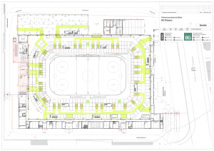 Plan der temporären Eishockey-Arena in Lausanne