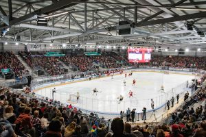 Temporäre Eishockey-Arena in Lausanne, Foto: Didier Charles