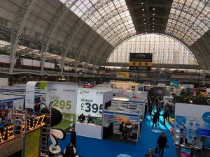 CONFEX 2018 in London - Blick in die Messehalle, Foto: FAMAB Kommunikationsverband e.V.