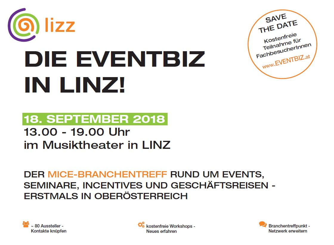LIZZ – die EVENTBIZ in Linz