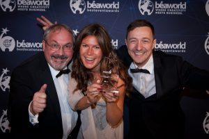 Bea World 2018: Wolfram Zöttl (Cinewolf), Stefanie Gründl (HIVEwise) & Andreas Göltl (Media Apparat)