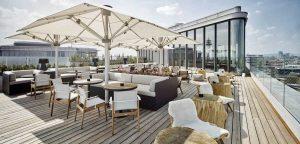 Aurora Rooftop Bar im Hotel Andaz Vienna