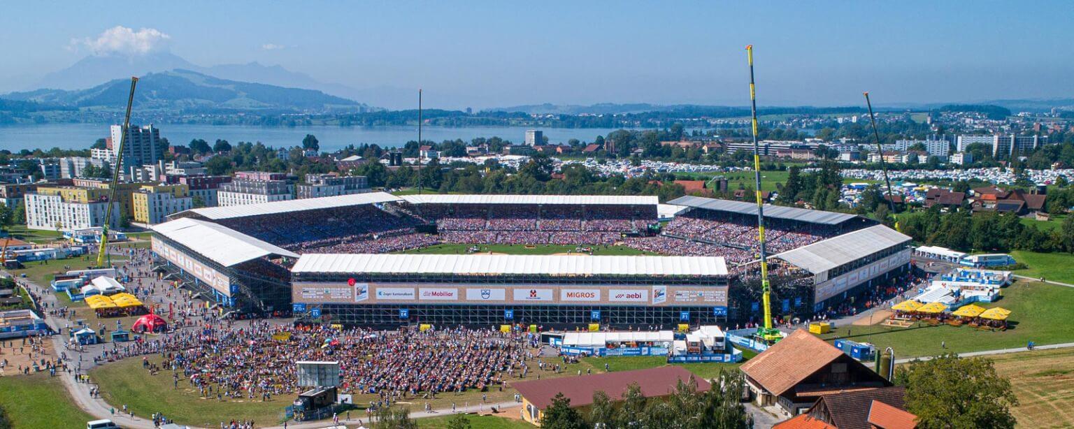 ESAF 2019 in der Schweiz: NÜSSLI baut die größte temporäre Arena der Welt