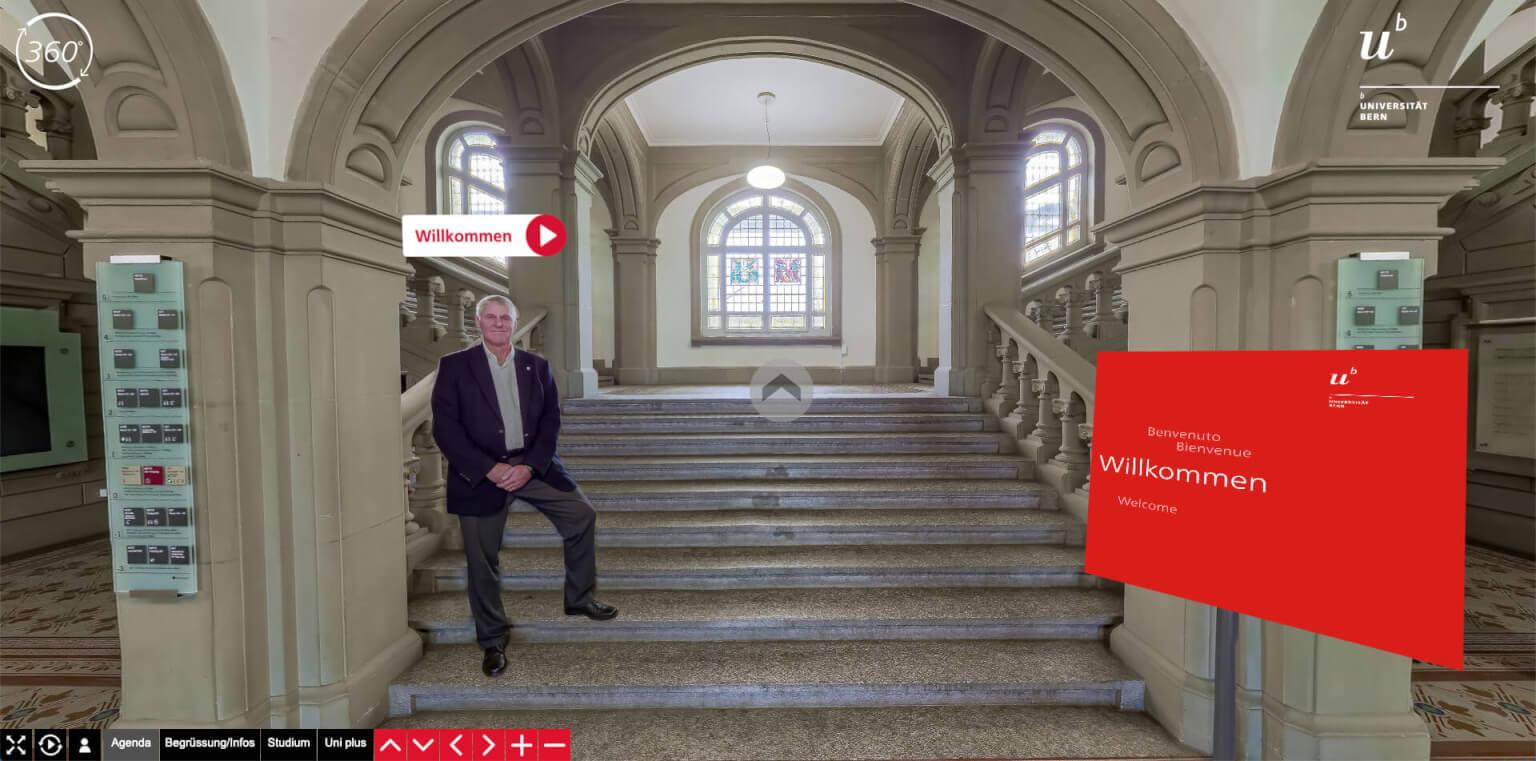 Digitale Plattform der Informationstage 2020 der Universität Bern, Foto: Habegger AG
