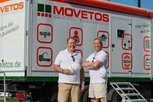 Erik Kastner (CEO) & Christoph Mistelbauer (COO) von MOVETOS Austria in Schönbrunn, Foto: Andreas Hross